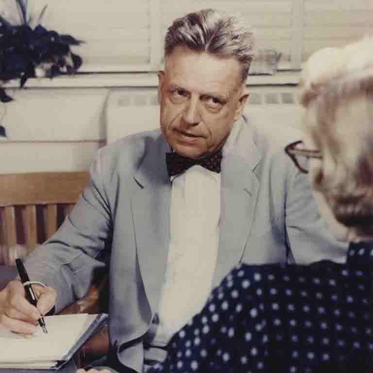 IU professor Alfred Kinsey interviews a subject